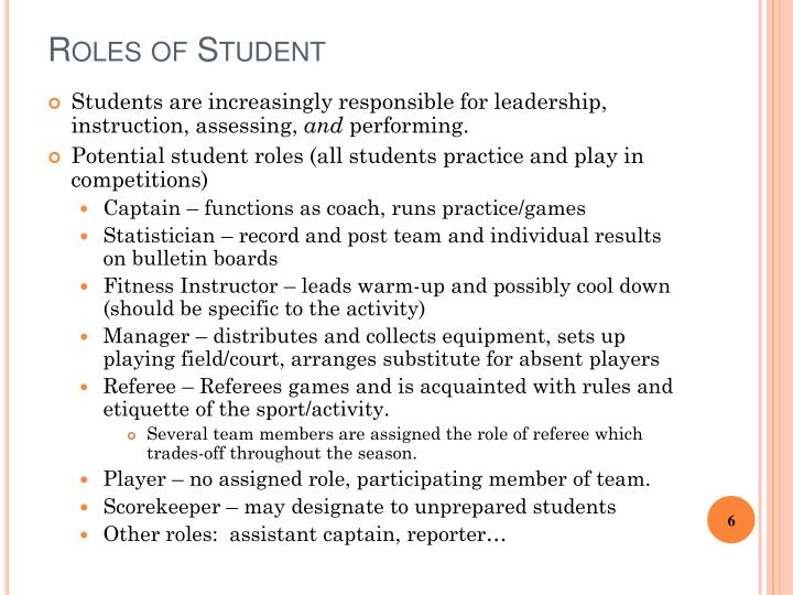 Roles of Student