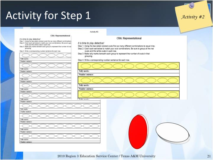 Activity for Step 1