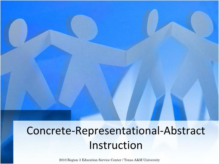 concrete representational abstract instruction