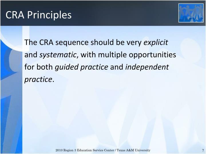 CRA Principles