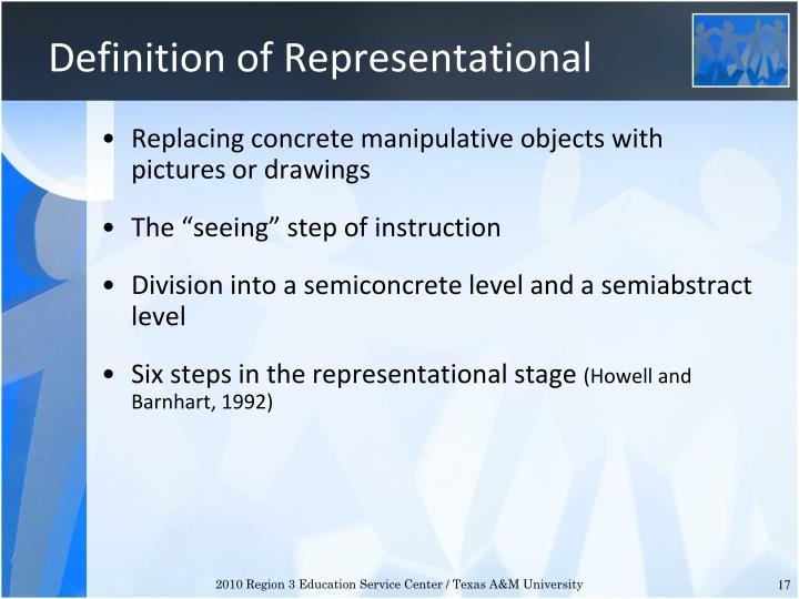 Definition of Representational