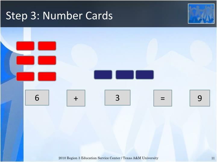 Step 3: Number Cards