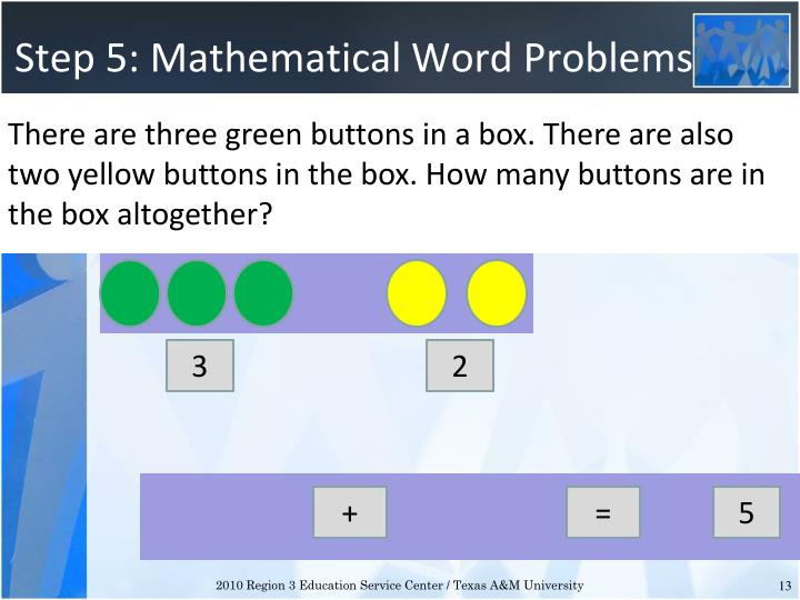 Step 5: Mathematical Word Problems