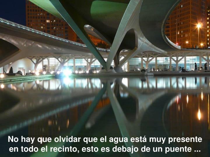 No hay que olvidar que el agua está muy presente en todo el recinto, esto es debajo de un puente