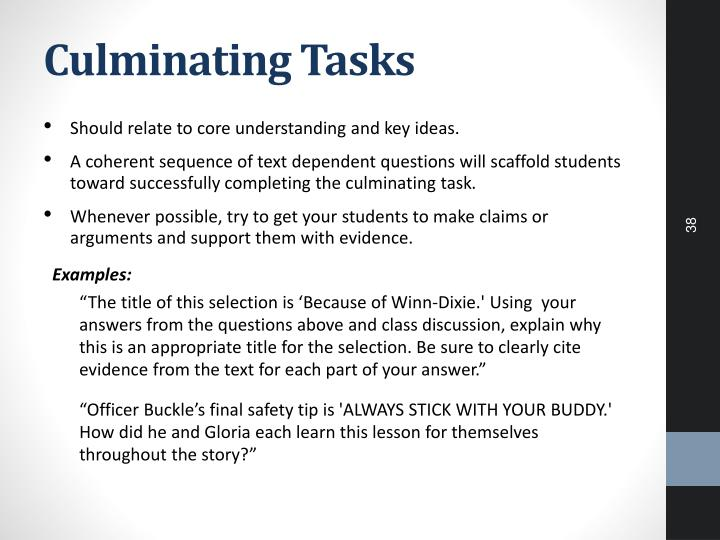 Culminating Tasks