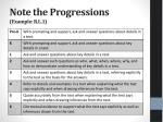 note the progressions example r l 1