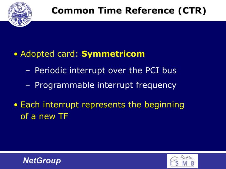 Common Time Reference (CTR)