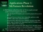 applications phase 1 mcnamara revolution