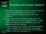 evolution of systems analysis