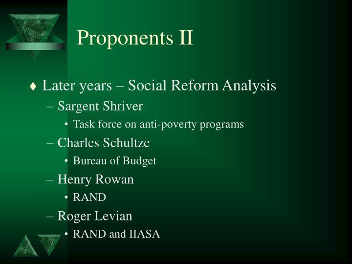 Proponents II