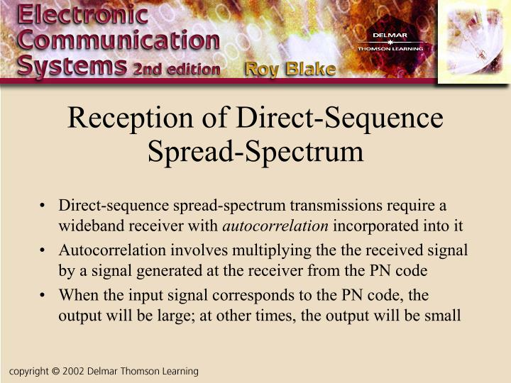 Reception of Direct-Sequence Spread-Spectrum