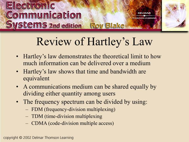 Review of Hartley's Law