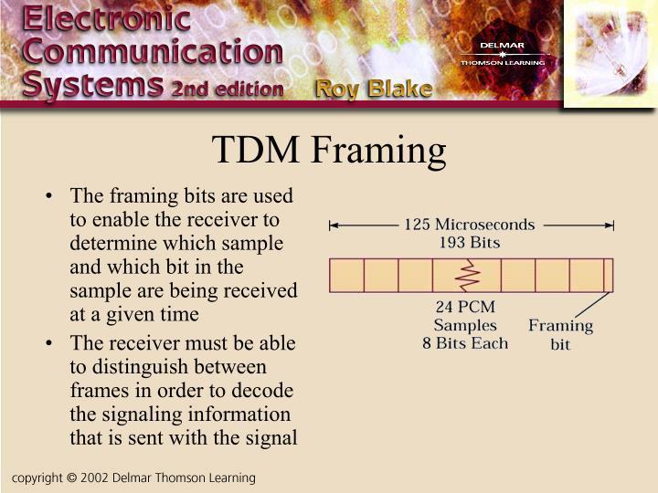 TDM Framing