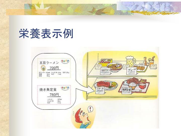 栄養表示例