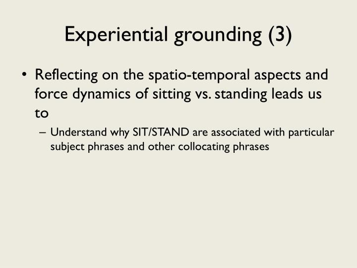 Experiential grounding (3)