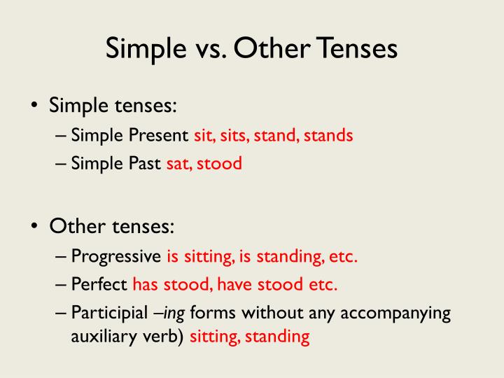 Simple vs. Other Tenses