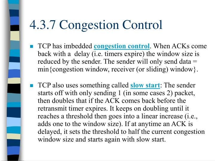 4.3.7 Congestion Control