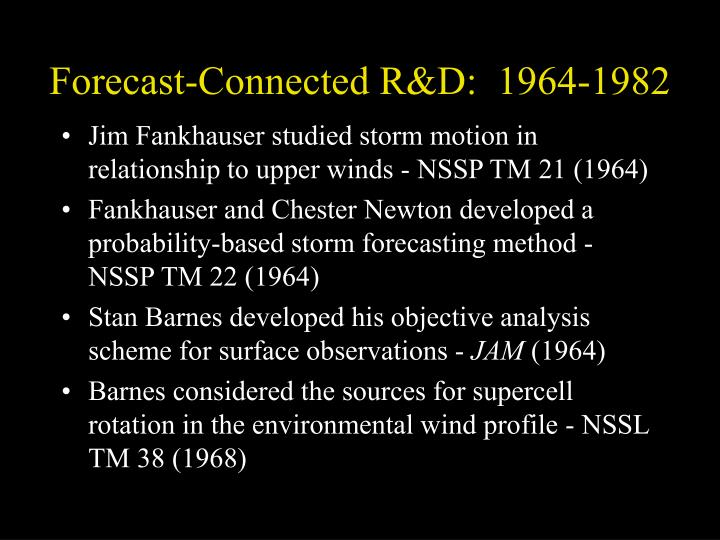 Forecast-Connected R&D:  1964-1982