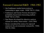 forecast connected r d 1964 1982