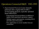 operations connected r d 1982 1993
