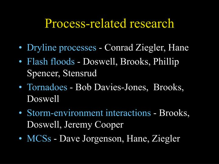 Process-related research