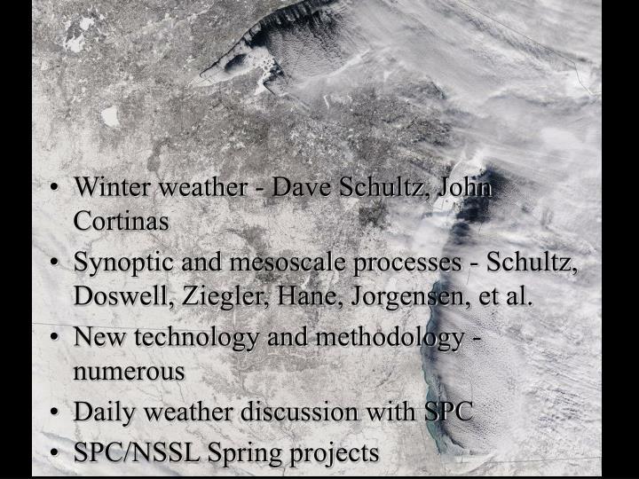 Winter weather - Dave Schultz, John Cortinas