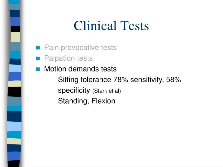 Clinical Tests