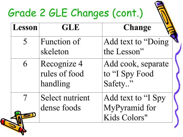 Grade 2 GLE Changes (cont.)