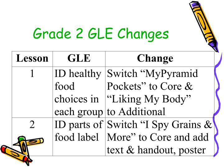 Grade 2 GLE Changes