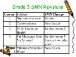 grade 3 smn revisions