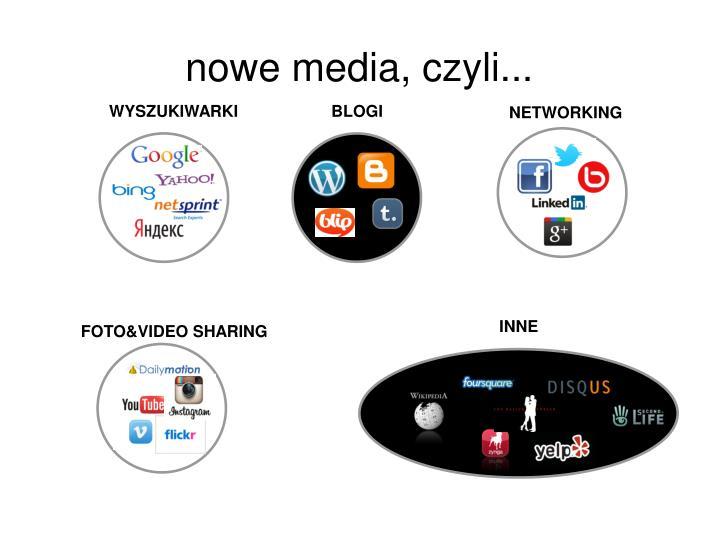 nowe media, czyli...