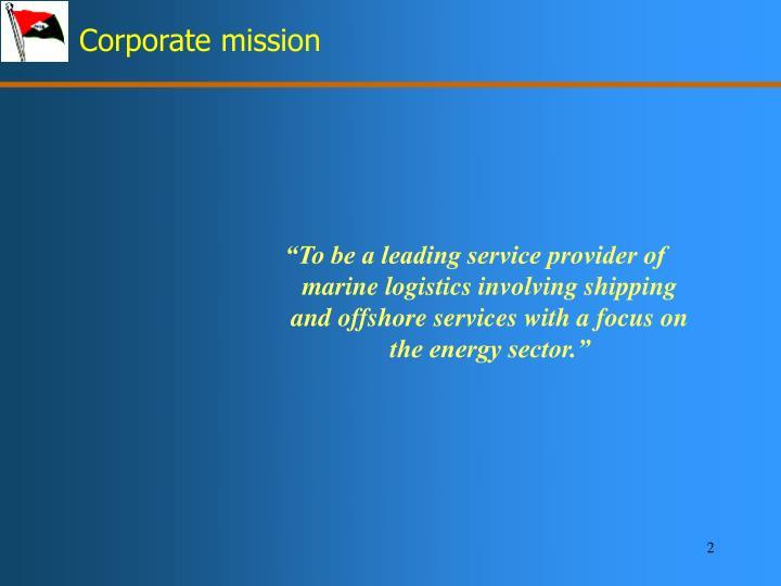 Corporate mission