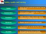 safety quality and training