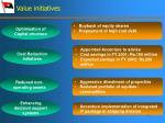 value initiatives