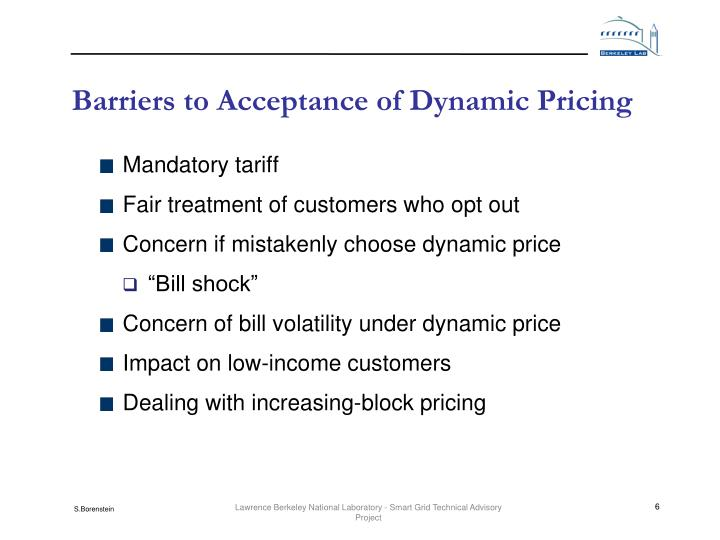 Barriers to Acceptance of Dynamic Pricing