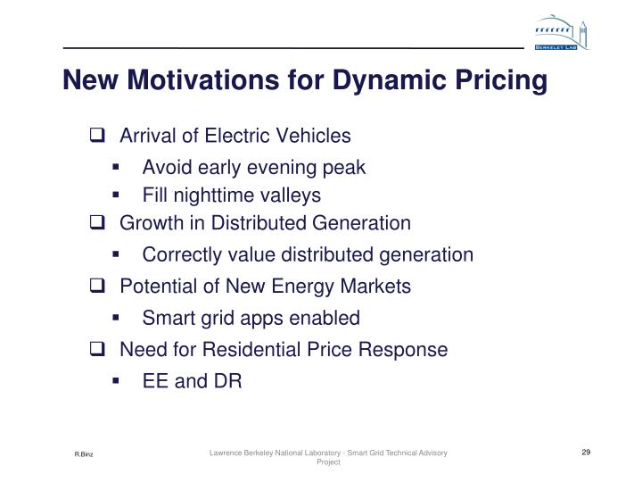 New Motivations for Dynamic Pricing