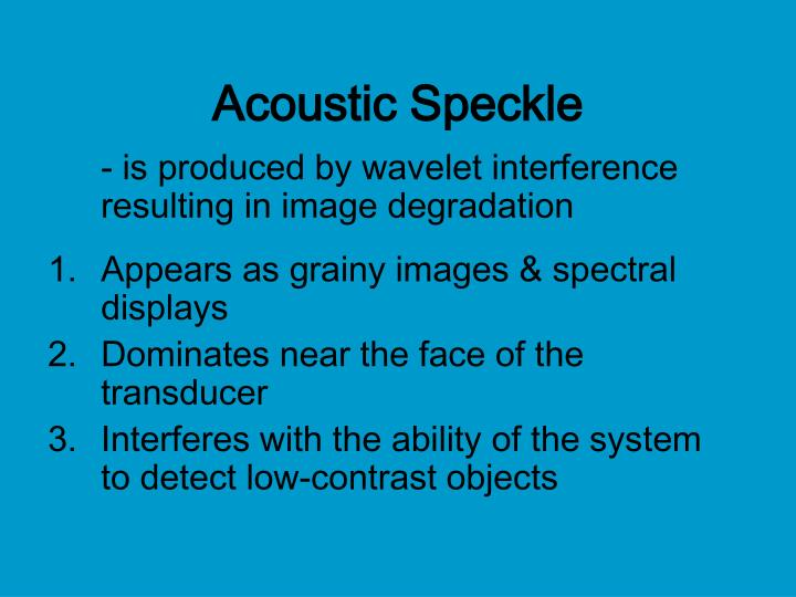 Acoustic Speckle