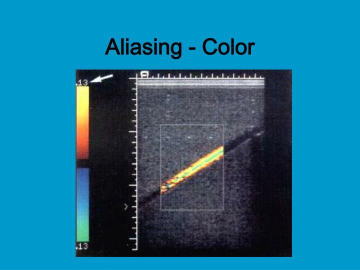 Aliasing - Color