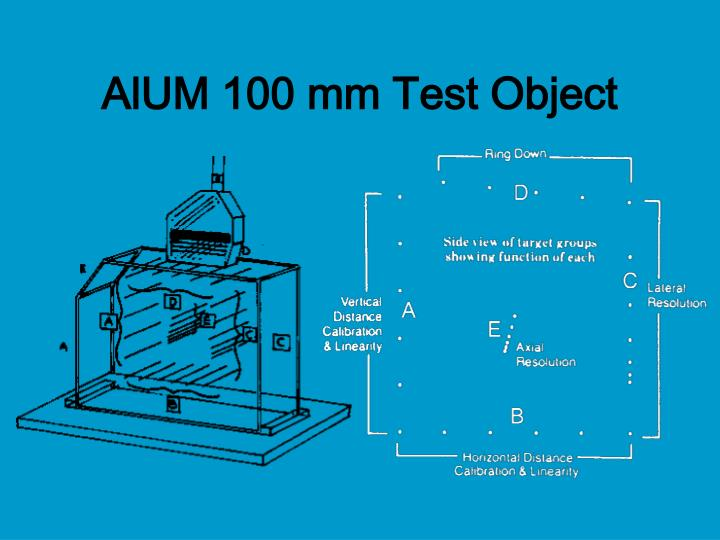 AlUM 100 mm Test Object