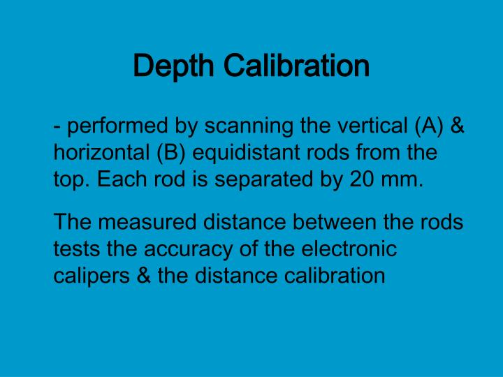 Depth Calibration