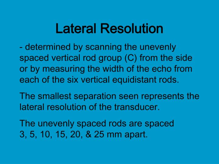 Lateral Resolution