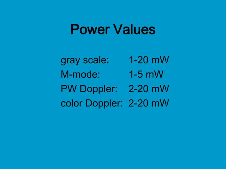 Power Values