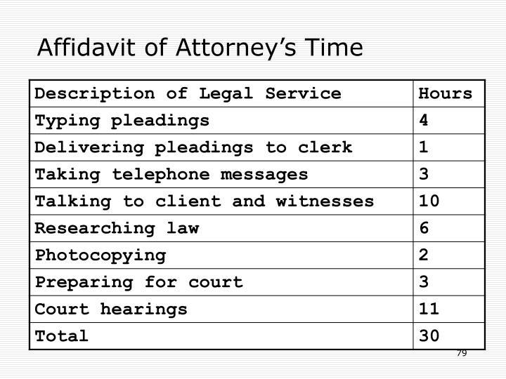 Affidavit of Attorney's Time