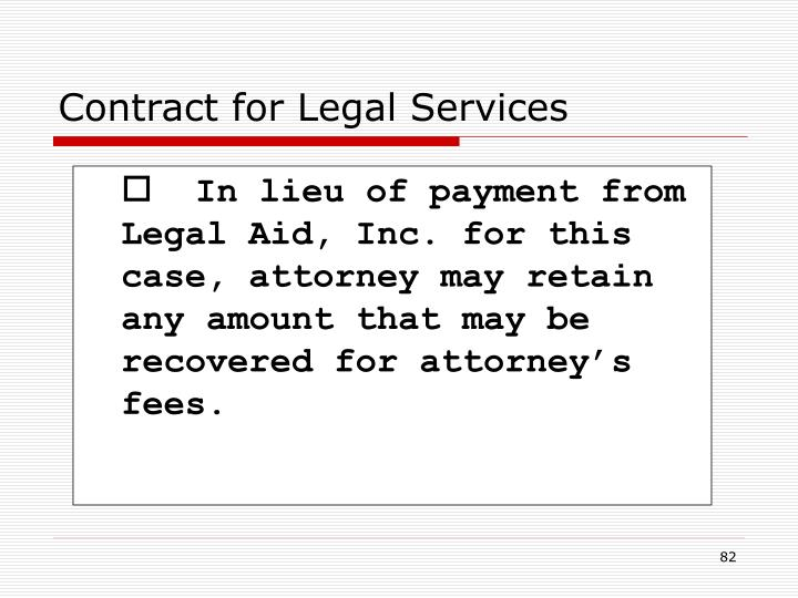 Contract for Legal Services