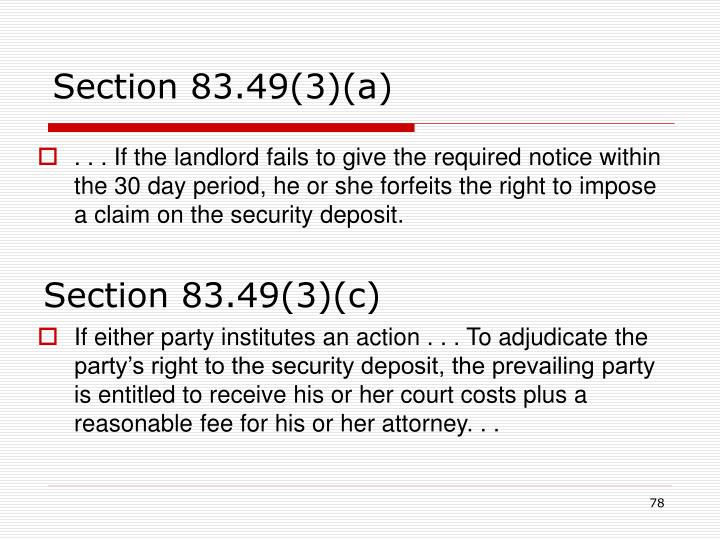 Section 83.49(3)(a)