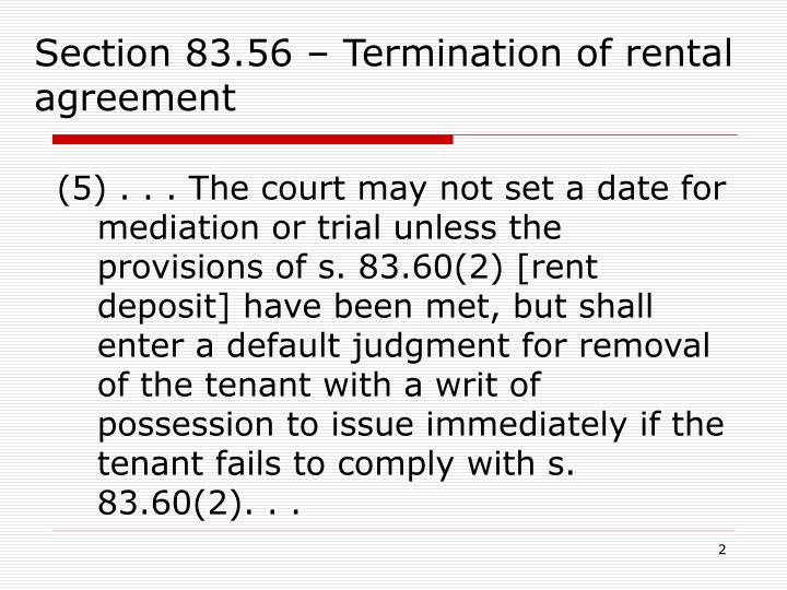 Section 83.56 – Termination of rental agreement
