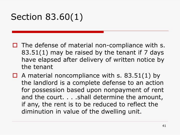 Section 83.60(1)