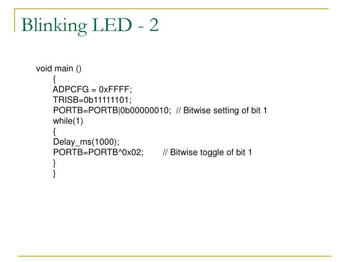 Blinking LED - 2