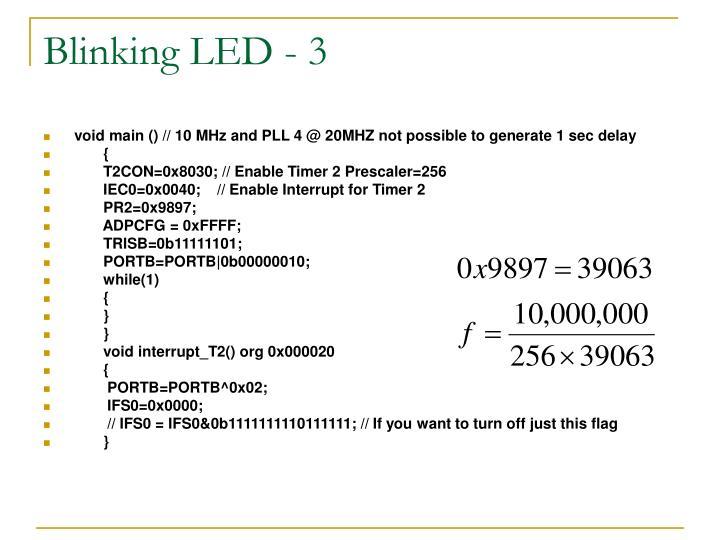 Blinking LED - 3