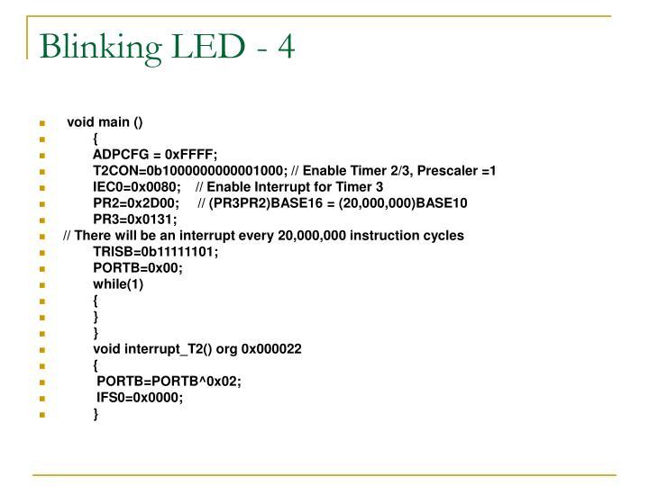 Blinking LED - 4